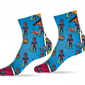 גרביים דגם גיבורי על קלאסיק הירוו